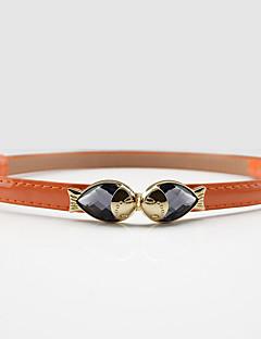 billige Trendy belter-Dame Dress Belt Spenne - Skinnende Metallisk, Ensfarget Legering / PU