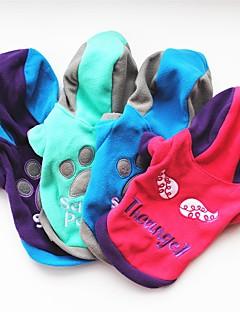 halpa -Kissa Koira Takit T-paita Hupparit College Koiran vaatteet Juhla Rento/arki Pidä Lämmin Kirjain ja numero Purppura Ruusu Vihreä Sininen