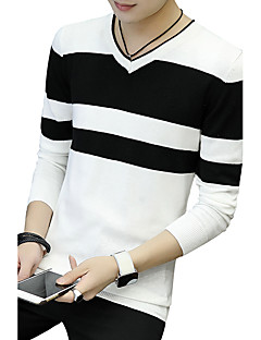 Men's Sports Plus Size Going out Casual/Daily Work Vintage Simple Street chic Regular Pullover,Solid Classic Fashion Round NeckLong