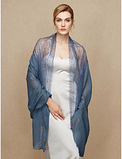 cheap Wedding Wraps-Cotton Lace Wedding Party / Evening Women's Wrap With Lace Shawls