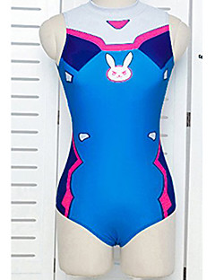 Overwatch Swimwear Inspired by Overwatch DVA Ayanami Rei Asuka Swimwear Cosplay Video Game Cosplay Costumes Suits Swimwear Fashion Leotard/Onesie