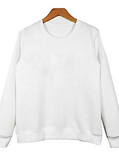 tanie Damskie bluzy z kapturem-Damskie Bawełna Bluzy - Litera