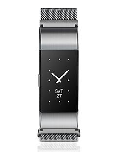 Heren Modieus horloge Digitaal Roestvrij staal Band Zwart Zilver