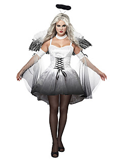 cheap -Fallen Angel Cosplay Costume Party Costume Women's Halloween Festival / Holiday Halloween Costumes White Black Print
