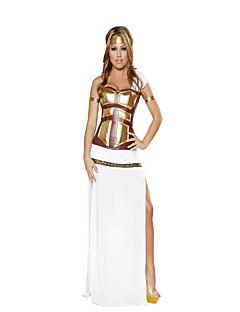 billige Voksenkostymer-Romerske Kostymer Egyptiske Kostymer Gudinne Cleopatra Cosplay Korsett Cosplay Kostumer Party-kostyme Dame Halloween Karneval Festival /