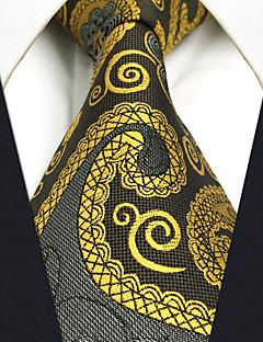 Bărbați Imprimeu Paisley Toate Sezoanele Vintage Draguț Petrecere Birou Casual Mătase,Cravată
