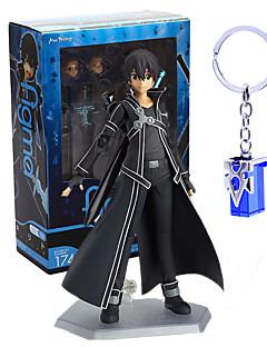 billige Anime cosplay-Anime Action Figurer Inspirert av Sword Art Online Kirito PVC 14 CM Modell Leker Dukke
