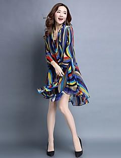 Women s Street chic Puff Sleeve Blouse - Striped Chiffon   Silk   Spring    Summer 2f7328f74