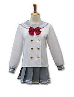 cheap Anime Cosplay-Cosplay Suits Cosplay Tops/Bottoms Cosplay Accessories Inspired by Love Live Cosplay Anime Cosplay Accessories Cravat Top Skirt Cotton