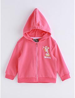 hesapli Bebek Dış Giyimi-Bebek Kız Çocukları Pamuklu Tek Renk İlkbahar/Kış Takım Elbise ve Blazer Fuşya