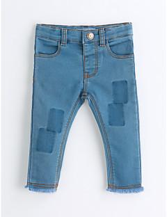 preiswerte Mode für Mädchen-Mädchen Hose Solide Baumwolle Frühling Herbst Blau