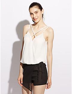 abordables Camisas y Camisetas para Mujer-Mujer Elegante - Blusa, Escote en Pico Un Color