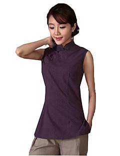 Bluse/Skjorte Klassisk og Traditionel Lolita Vintage Inspireret Cosplay Lolita Kjoler Blå Lilla Grøn Trykt mønster Vintage Lolita Top Til