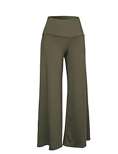 お買い得  レディースパンツ-女性用 プラスサイズ ハイウエスト ルーズ ブーッカット ワイドレッグ パンツ - 純色, ソリッド