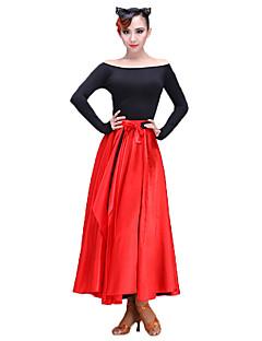 お買い得  -ラテンダンス 女性用 性能 シルク類似物 ストレッチシフォン スカート