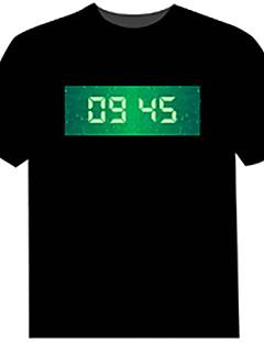 LED-T-Shirts 100% Baumwolle Neuheit 4 AAA Batterien