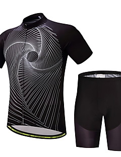 Cycling Jersey with Shorts Men's Short Sleeves Bike Clothing Suits Anti-slip Strap Well-ventilated Softness Wicking Polyester LYCRA®
