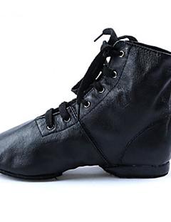 Χαμηλού Κόστους -Γυναικεία Παπούτσια τζαζ Δερματίνη / Δερμάτινο Χωρίς Τακούνι / Τακούνια Επίπεδο Τακούνι Εξατομικευμένο Παπούτσια Χορού Μαύρο / Εξάσκηση