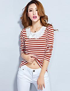 voordelige Damestops-Dames T-shirt Gestreept Katoen Rayon Polyester
