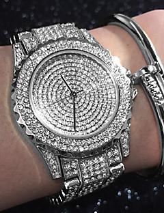 billige Armbåndsure-Dame Quartz Armbåndsur Kinesisk Vandafvisende / Kreativ / Imiteret Diamant Rustfrit stål Bånd Vedhæng / Glitrende / Afslappet / Elegant /