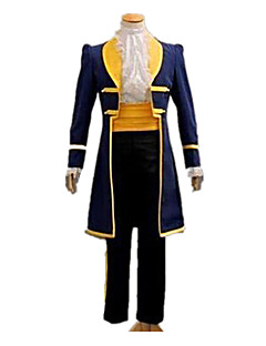 cheap Men's & Women's Halloween Costumes-Prince Fairytale Cosplay Costume Men's Women's Halloween Carnival Festival / Holiday Halloween Costumes Yellow+Blue Solid Colored Classic