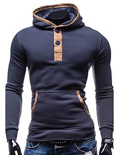 Heren Street chic Sport Uitgaan Casual/Dagelijks Trui met capuchon Kleurenblok Micro-elastisch Katoen Polyester Lange mouw Herfst Winter