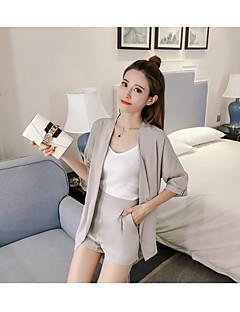 お買い得  レディースツーピースセット-女性用 Tシャツ - バックレス, ソリッド パンツ