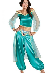 billige Halloweenkostymer-Princess Jasmine Cosplay Kostumer Jul Halloween Karneval Oktoberfest Nytt År Festival / høytid Halloween-kostymer Helfarge Mote