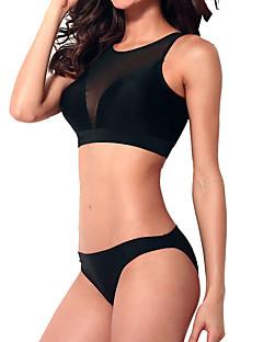 billige Bikinier og damemote 2017-Dame Solid Svart Underbukser Bikini Badetøy - Ensfarget Hjerte Stil / Sommerfugl Stil / Moderne Stil S M L