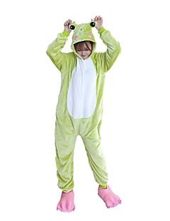 billige Kigurumi-Voksne Kigurumi-pysjamas med tøfler Frosk Onesie-pysjamas Flannelstoff Cosplay Til Damer og Herrer Pysjamas med dyremotiv Tegnefilm Festival / høytid kostymer
