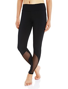 Women's Running Tights Gym Leggings Quick Dry Wearable Bottoms Hiking Exercise & Fitness Camping Running Polyester Slim S M L XL