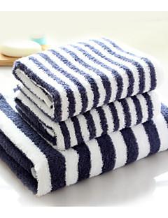 バスタオルセット,ストラップ柄 高品質 コットン100% タオル