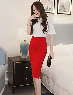 Women's Going out Knee-length Skirts Bodycon Solid Spring