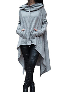 cheap Women's Hoodies & Sweatshirts-Women's Loose Hoodie - Color Block 3D Print