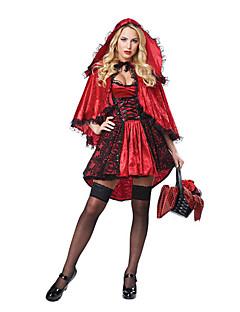 Eventyr Gudinne Cosplay Cosplay Kostumer Maskerade Kvinnelig Halloween Karneval Festival/høytid Halloween-kostymer Rød Andre Vintage