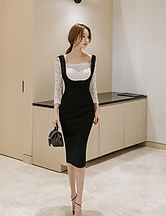 Women's Casual/Daily Simple Spring Blouse Skirt Suits,Solid Boat Neck Long Sleeve Micro-elastic