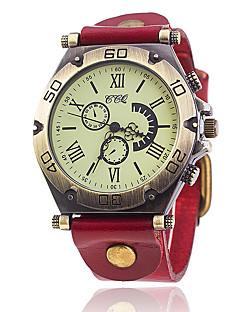 Pánské Unikátní Creative hodinky Hodinky na běžné nošení Módní hodinky Náramkové hodinky čínština Křemenný Kůže Kapela Vintage Na běžné