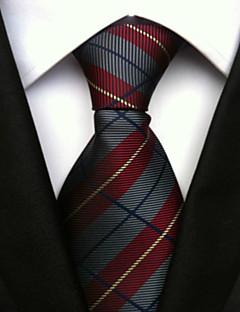 Bărbați Cu Dungi Toate Sezoanele Fulare Cravată Roșu Vin