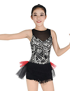 Jazz Dresses Women's Children's Performance Elastic Lycra Pleated Paillette Sleeveless Natural Dresses Headpieces
