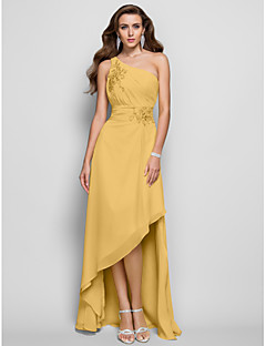 ca384ccd96 Sheath   Column One Shoulder Asymmetrical Chiffon High Low Formal Evening  Dress with Beading   Ruched by TS Couture®