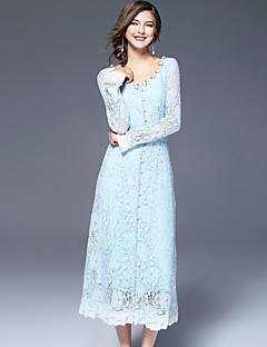 cheap FRMZ-FRMZ Women's Cute Sheath Dress - Embroidered Maxi V Neck
