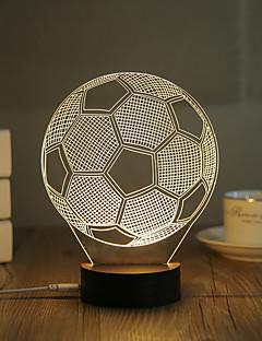 baratos Luzes de presente-1conjunto Luz noturna 3D USB Decorativa