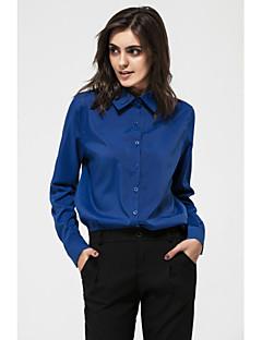 Χαμηλού Κόστους Chic Shirts-Γυναικεία Πουκάμισο Μονόχρωμο Κολάρο Πουκαμίσου