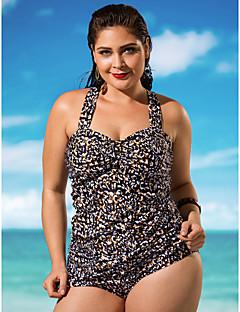 Kvinner Dyr Grime Bikinikjole Polyester Spandex