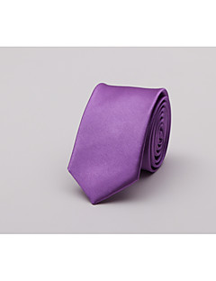 Men's Polyester Neck Tie,Casual Fashion Solid All Seasons Red Blushing Pink Purple Yellow Royal Blue