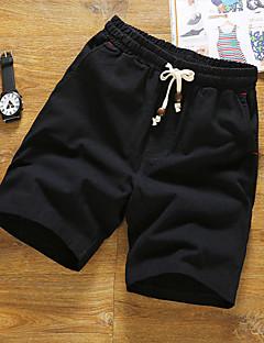 billige Herrebukser og -shorts-Herre Store størrelser Rett Tynn Shorts Chinos Bukser Ensfarget