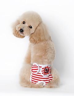 billiga Hundkläder-Hund Pyjamas Hundkläder Rand Svart Röd Marin Cotton Naturliga Svampar Kostym För husdjur Ledigt/vardag