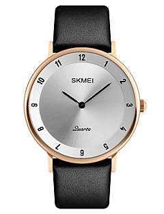 SKMEI Herrn Kleideruhr Modeuhr Armbanduhr Japanisch Quartz Kalender Wasserdicht Leder Band Luxus Cool Elegant Schwarz