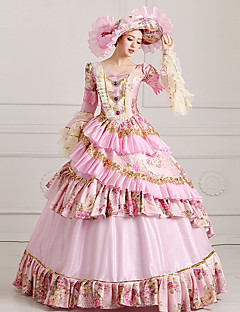 Witch Princess Queen Cosplay Costumes Halloween Carnival New Year Festival / Holiday Halloween Costumes Pink Solid Color Lace