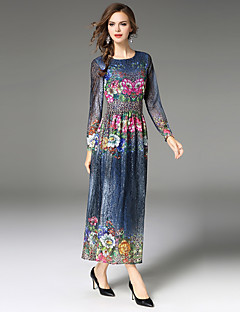 cheap MAXLINDY-Maxlindy Women's Vintage Sophisticated Puff Sleeve A Line Dress - Floral Jacquard, Lace